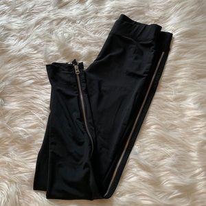 Armani Exchange Side Zippered Leggings